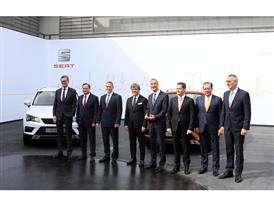 Members of the Executive Committee with the Ateca, presented at Geneva Motor Show