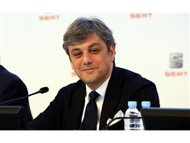 Chairman of Executive Committee of SEAT, Luca de Meo, at presentation of results for 2015