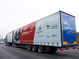 A mega truck has driven today for the first time on Spanish roads
