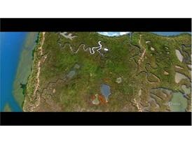 Aerial image of Cristina Isle (Huelva)