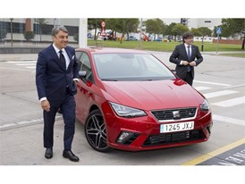 Puigdemont and de Meo arriving in a new Ibiza to the factory visit