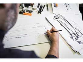 All new cars begin as a pencil drawing on paper to define the personality and features of the future model.