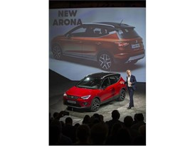 Executive Vice-President for R&D of SEAT, Dr. Matthias Rabe presenting the New SEAT Arona