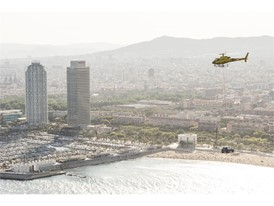 SEAT's new compact crossover flew over the Barcelona coastline at 300 metres above the sea