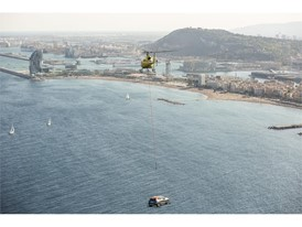 At a speed of 40 knots, around 80 km hour, the new model flew over the Barcelona coastline for 50 minutes