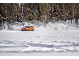 The winter cold freezes the surface of the lake and cars can safely drive on