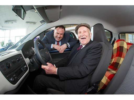 Irelands Michael Kearns, 94 has just bought himself a SEAT Mii