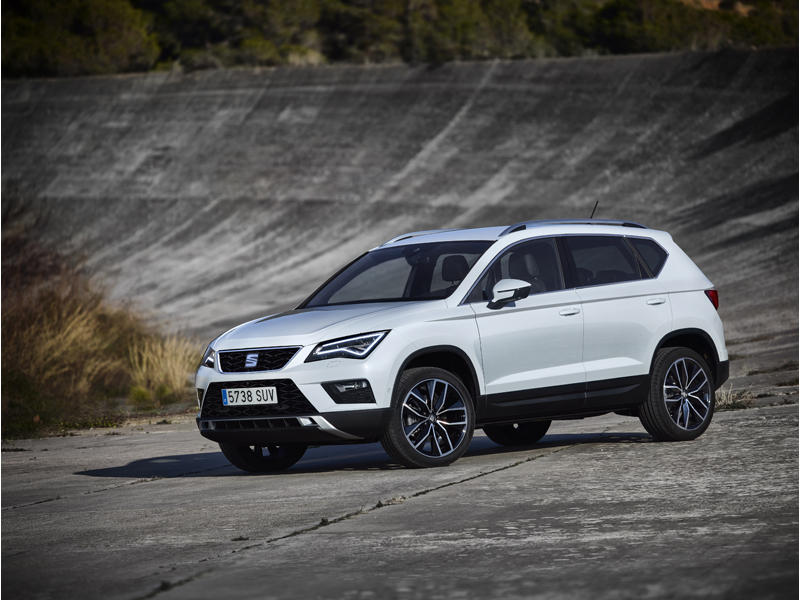 The New SEAT ATECA, exterior, static shot, 3/4 front view