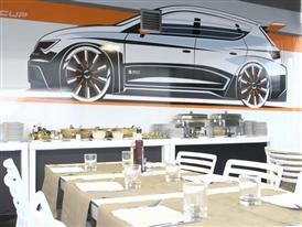 The nomadic restaurant of the SEAT Leon Eurocup