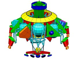 SkyCrane Siemens NX CAE model