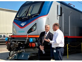 May 2013 Amtrak Cities Sprinter Unveil at Siemens Sacramento Rail Manufacturing Facility