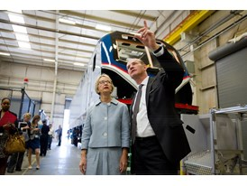 May 2013 Amtrak Cities Sprinter Unveil at Siemens Sacramento Rail Manufacturing Facility  - Cahill and Hedlund