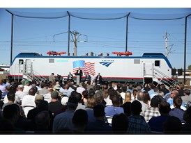 May 2013 Amtrak Cities Sprinter Unveil at Siemens Sacramento Rail Manufacturing Facility - Unveiling Ceremony