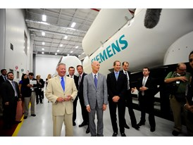 Governor Rick Scott and Mayor Buddy Dyer tour of Siemens new Wind Training Facility in Orlando, Florida