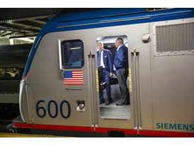 February 2014 - Vice President Joe Biden inside the Amtrak Siemens ACS-64 Cities Sprinter (Amtrak)