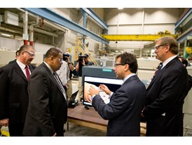 Siemens executives and local leaders tour the Norwood Manufacturing facility, Feb. 19th, 2014