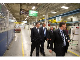 Rep. Tim Ryan and Eric Spiegel Pres. & CEO Siemens USA tour the Siemens Norwood Manufacturing facility, Feb. 19th, 2014