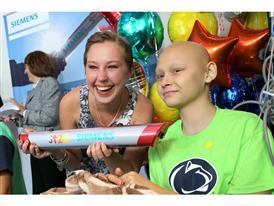 Sarah Park and Nina Thacker Pass The Baton at Hershey Children's Hospital, 9/2/14