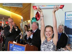 Sarah Park Celebrating the One Millionth Baton Pass at Hershey Children's Hospital, 9/2/14