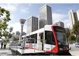 Siemens mock-up of SFMTA's new Light Rail Vehicle for MUNI 6/16/15