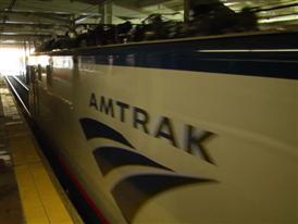 Amtrak/Siemens ACS-64 departs 30th Street Station, Philadelphia