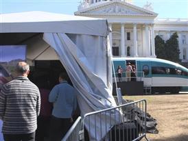 Public Tour of High Speed Train Exhibit B-Roll 2/25/15