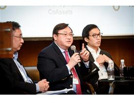 Patrick Teng defending proposition during Q&A at the ACCA Debate 2015