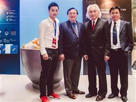 Patrick Teng, Roy Lai and Paul Teng with Professor Michio Kaku @ SMF
