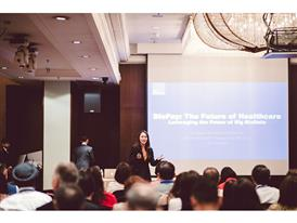 Shiying Gan presenting talk on Biopay: The future of healthcare