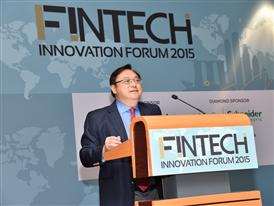 Patrick Teng speaking at the Fintech Innovation Forum 2015