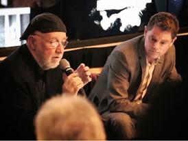 Albert Watson  with Philipp Noller Event organization director