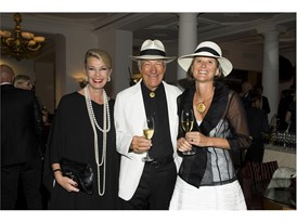 Kathy Dobers ( Cartier),  Hans-Peter with von Platen Amelie-Claire.SAM St.Moritz Art Masters 2016 Credits Foto Flury
