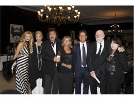 Audrey Tritto,Kathy Dobers,Monty Shadow,Laura Ghisi,Fabio Capello, Albert Watson and Elizabeth Watson- Credit Foto Flury