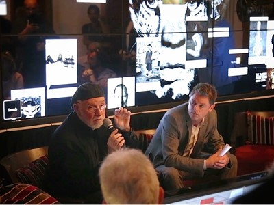 Albert Watson  with Philipp Noller Event organization director 2