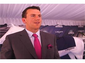 Chris Snee, Former New York Giants Guard and Longines Belmont Fashion Contest Judge