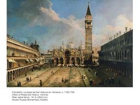 Canaletto, La plaza de San Marcos en Venecia, c. 1723-1724