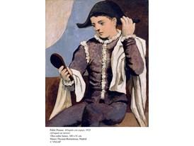 Pablo Picasso, Arlequin con espejo, 1923