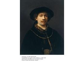Harmensz. van Rijn Rembrandt, Autorretrato con gorra y dos cadenas, c.1642-1643
