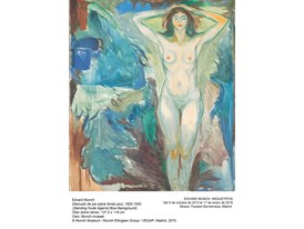 Munch - Standing Nude Against Blue Background - 1925-1930