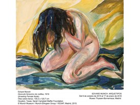Munch - Kneeling Female Nude - 1919