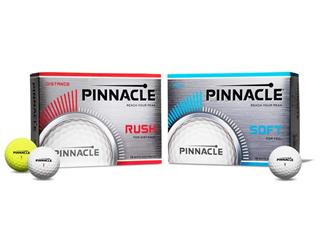 Pinnacle Introduces New Rush and Soft Golf Balls for Powerful Distance, Incredibly Soft Feel