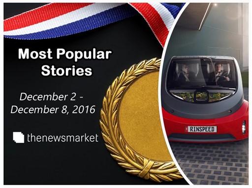 Most Popular Stories: December 2 - December 8, 2016
