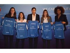UEFA unveils ambassadors for women's football development
