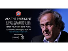 UEFA President speaks to fans on YouTube