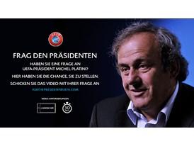 UEFA President speaks to fans on YouTube German