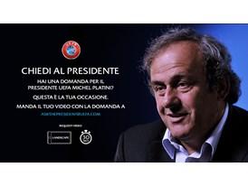 UEFA President speaks to fans on YouTube Italian