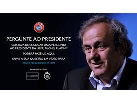 UEFA President speaks to fans on YouTube Portuguese