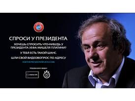 UEFA President speaks to fans on YouTube Russian
