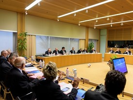 The UEFA Executive Committee meeting in Nyon