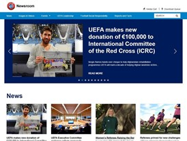 UEFA launches new online newsroom for journalists and bloggers